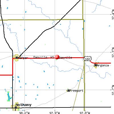 Danville, KS map