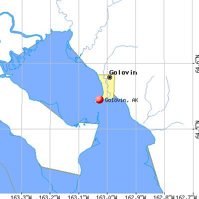 Golovin, AK map