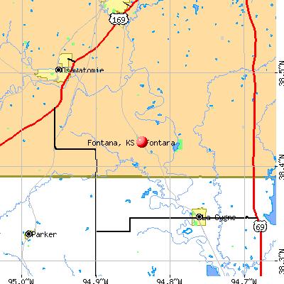 Fontana, KS map