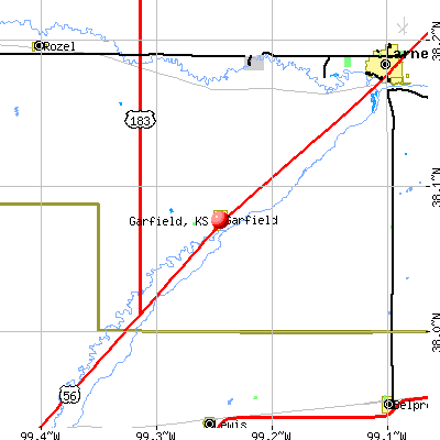 Garfield, KS map