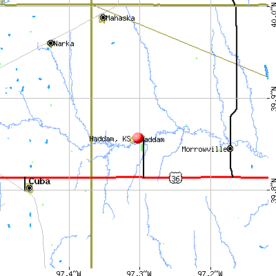 Haddam, KS map