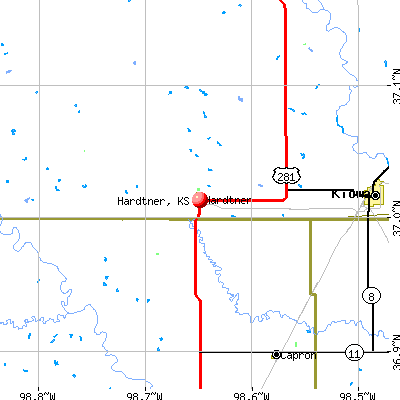 Hardtner, KS map