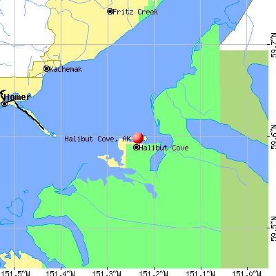 Halibut Cove, AK map