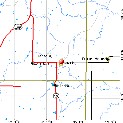 Kincaid, KS map