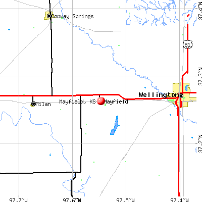 Mayfield, KS map
