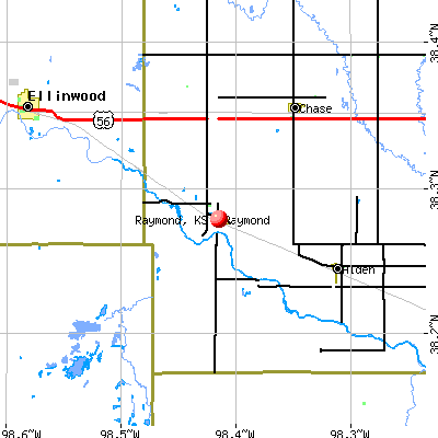 Raymond, KS map