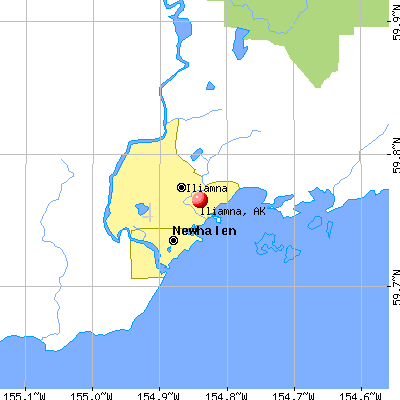 Iliamna, AK map
