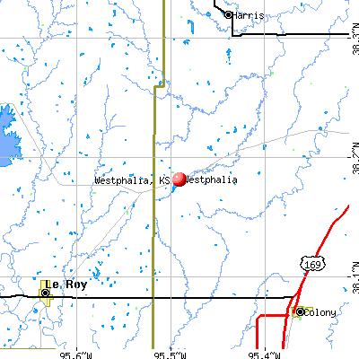 Westphalia, KS map