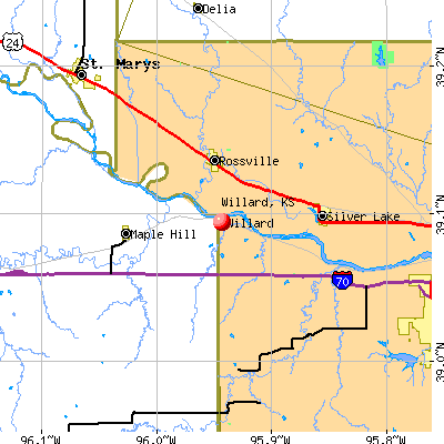 Willard, KS map