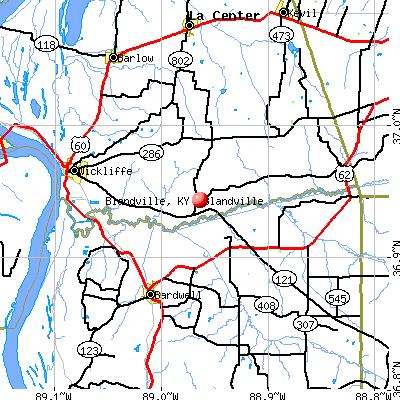 Blandville, KY map