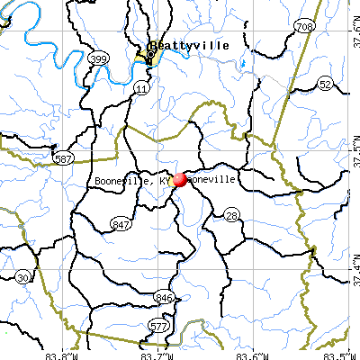 Booneville, KY map