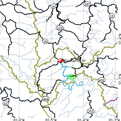 Buckhorn, KY map