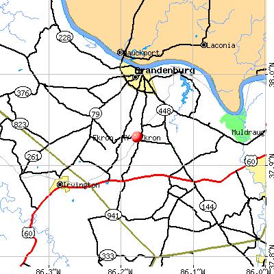 Ekron, KY map