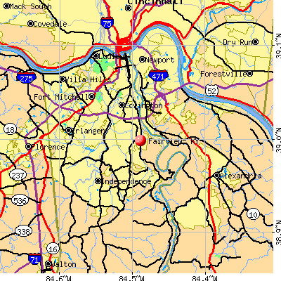 Fairview, KY map