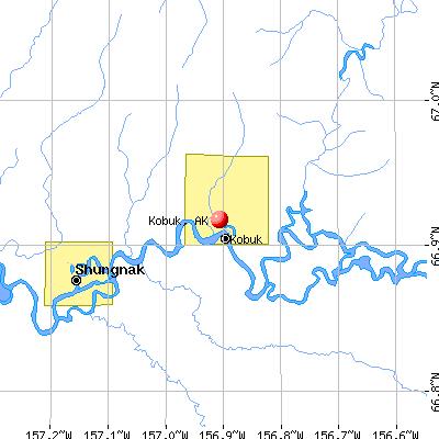Kobuk, AK map