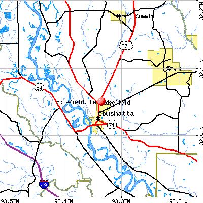 Edgefield, LA map