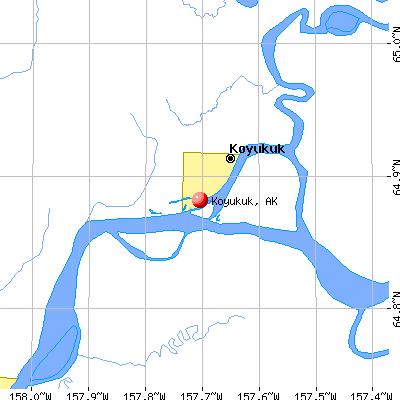 Koyukuk, AK map