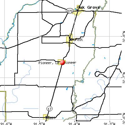 Pioneer, LA map