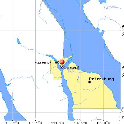 Kupreanof, AK map