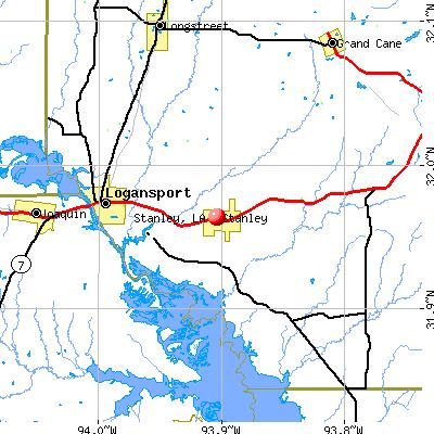 Stanley, LA map