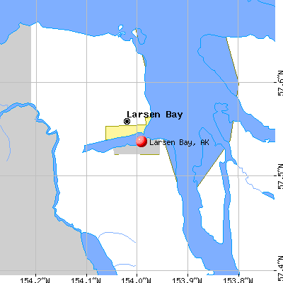 Larsen Bay, AK map