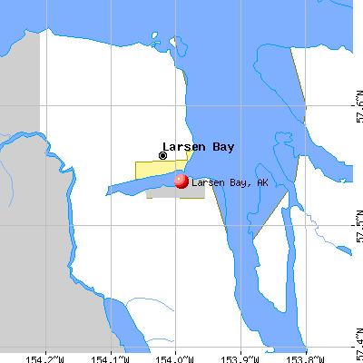 Larsen Bay, AK map