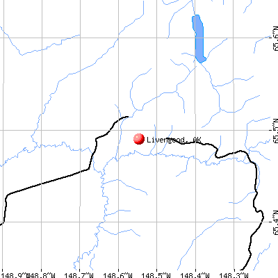 Livengood, AK map