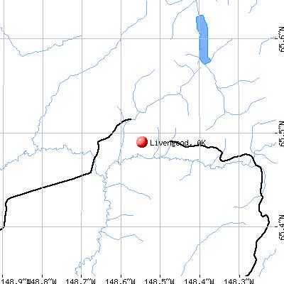 Livengood, AK map