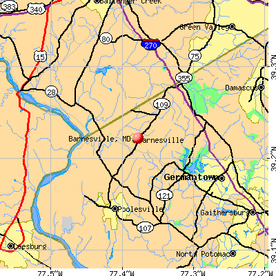 map of maryland cities. Barnesville, MD map