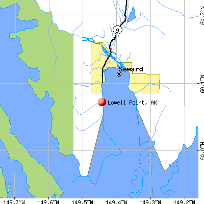 Lowell Point, AK map