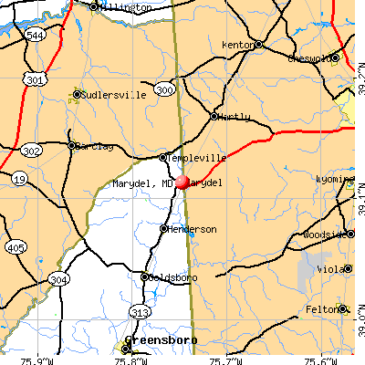 Marydel, MD map