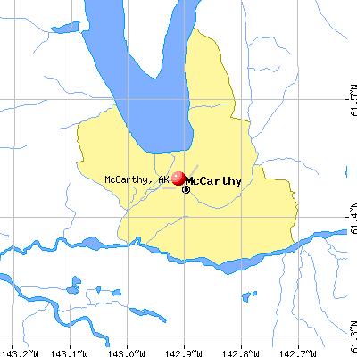 McCarthy, AK map