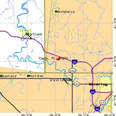 Eagle, MI map