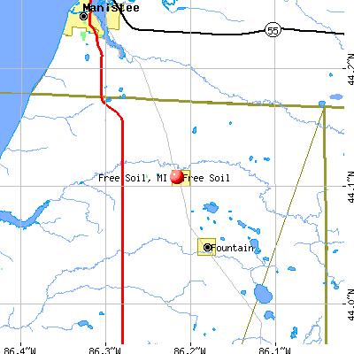 Free Soil, MI map