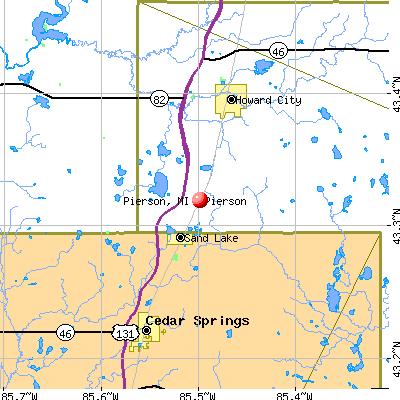 Pierson, MI map
