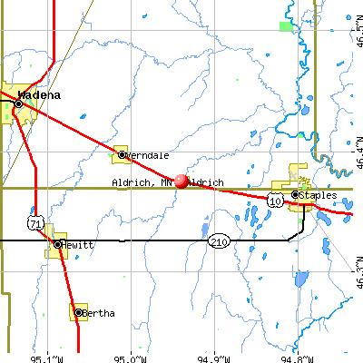 Aldrich, MN map
