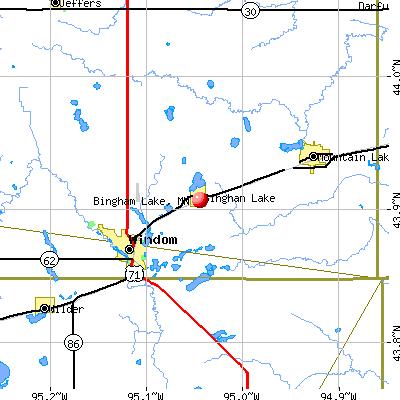 Bingham Lake, MN map