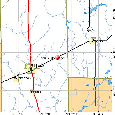 Bock, MN map