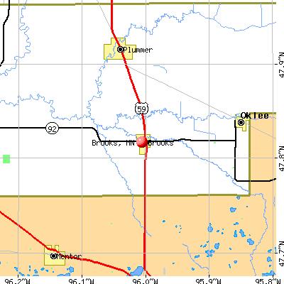 Brooks, MN map