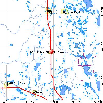 Callaway, MN map