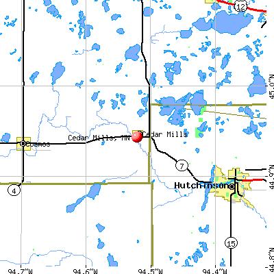 Cedar Mills, MN map
