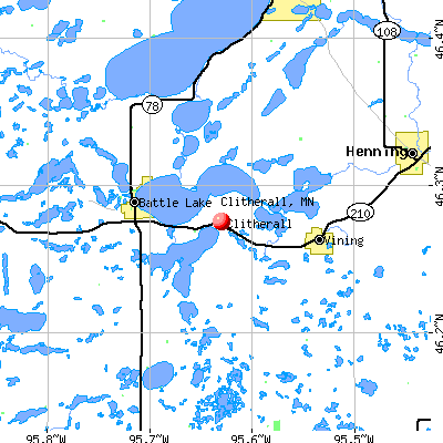 Clitherall, MN map
