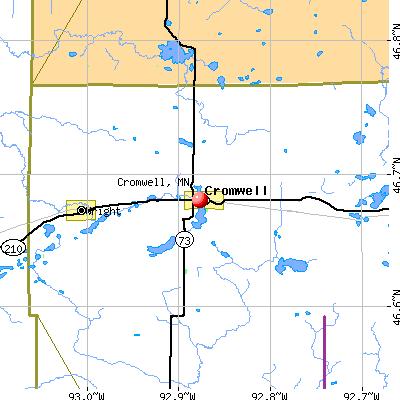 Cromwell, MN map