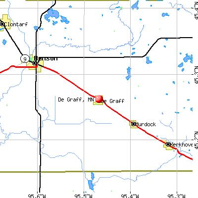 De Graff, MN map
