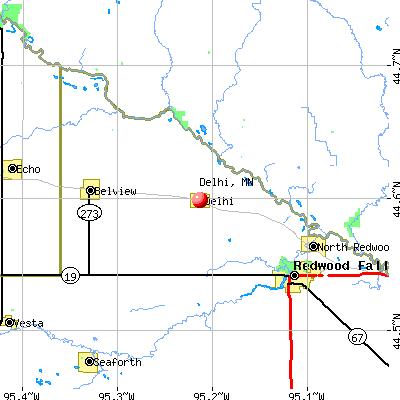 Delhi, MN map