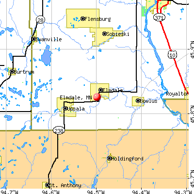 Elmdale, MN map
