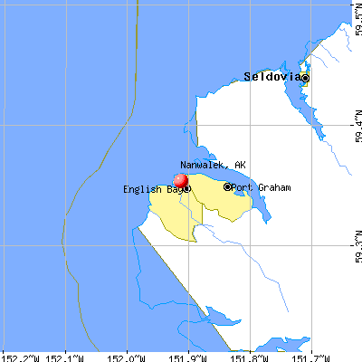 Nanwalek, AK map