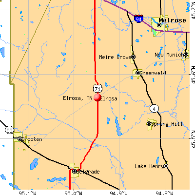 Elrosa, MN map