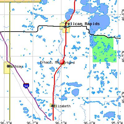 Erhard, MN map