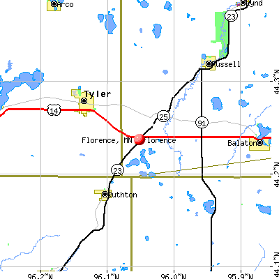 Florence, MN map